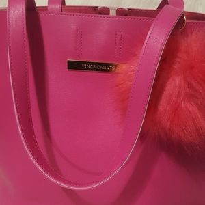 Gorgeous pink Vince Camuto tote!